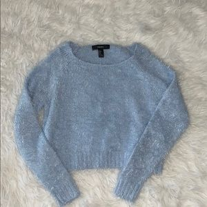 Forever 21 periwinkle blue sweater